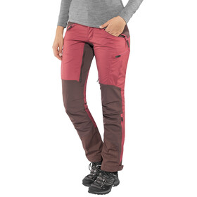 Lundhags Makke - Pantalones de Trekking Mujer - Regular rojo/violeta
